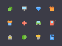 Loyalty Program Icons for Mobile Apps
