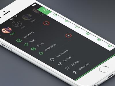 Zoomlee — Sidebar Menu flat clean material travel iphone android mobile slide menu delete tag list