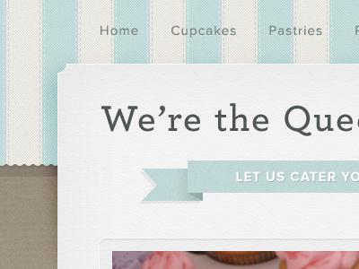 Bakery Template stripes paper cloth texture blue beige proxima nova template
