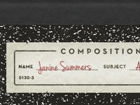 Vintage Composition Book
