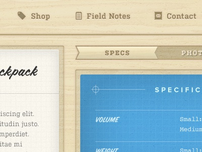 Wood UI wood texture blueprint pictos grid kulturista coffee service proxima nova blue