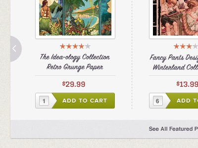 Featured Product Slider texture ui ecommerce script kulturista green orange purple red slider thumbnail
