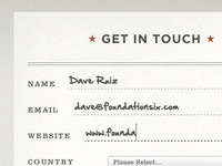 Font Replacement Form