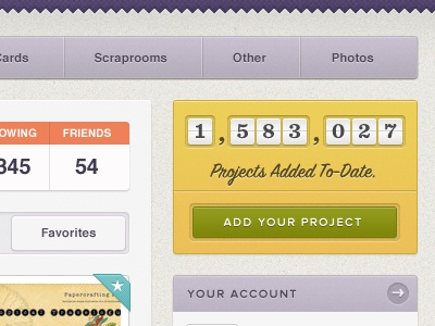Projects Added To-Date ui ux texture yellow green purple orange blue helvetica script