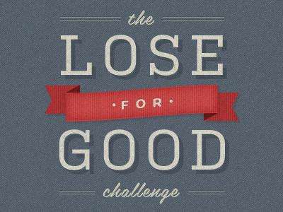 The Lose For Good Challenge vintage texture script ribbon grey red beige distressed kulturista belinda