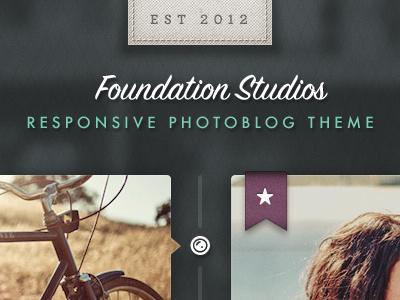 Theme Foundry Photography Theme texture ui script green purple pictos futura