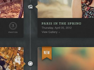Paris In The Spring texture ui green orange pictos futura american typewriter rokkitt helvetica photography