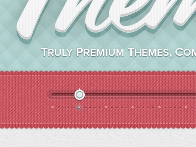 Truly Premium Themes themes texture slider ui ribbon script blue pink coming soon