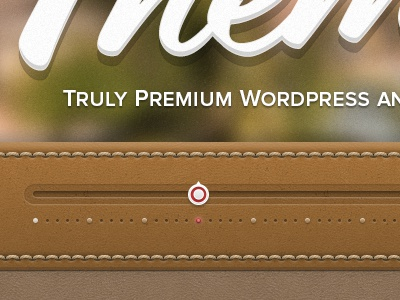 Leather Slider leather travel coming soon wordpress texture stitching blur script proxima nova red camel slider