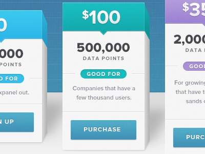 3D Pricing Page pricing web design blue green purple ui ux texture 3d depth purchase sign up proxima nova