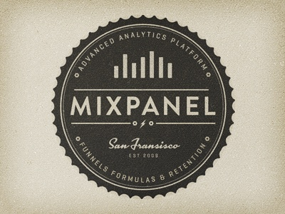 Mixpanel T-Shirt Concept mixpanel texture vintage grunge analytics funnels formulas retention geogrotesque brandon grotesque kinescope