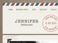 Air Mail Wedding Invite