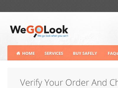 WeGoLook web navigation header texture checkout