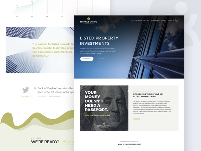 Sesfikile Capital UI wordpress agency services flat menu navigation listed property landing page investement webdesign web design site uiux ux ui home page modern homepage clean