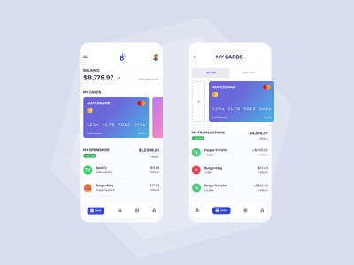 Bank Wallet simple dribbble best shot dribbble soft application mobile light concept clean user interface uiux ui minimal