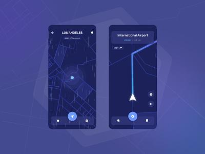 Maps Navigation Concept Rebound rebound clean simple design ux app uiux mobile concept minimal ui