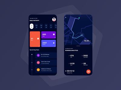 Fitness Application application simple design app ux uiux mobile concept minimal ui