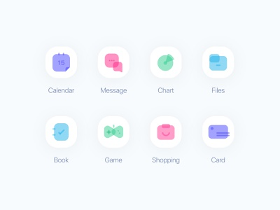 Icons icon set icons pack iconography icons design rebound concept vivid bright simple iconset icons