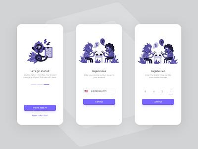 Onboarding OTP Registration registration otp application design app ux uiux simple mobile minimal concept ui