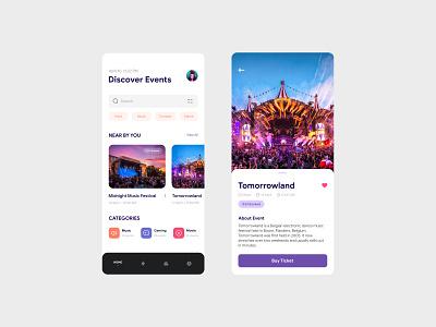 Event Booking rebound clean app design ux  ui light ui applicaation ui ux mobile ui mobile concept