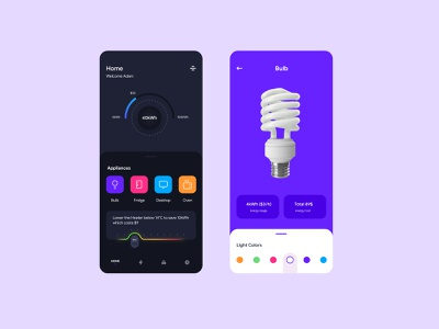 Smart Home energy clean dribbble design app mobile ui  ux uiux ui smart home rebound concept
