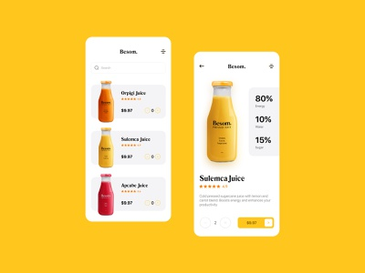 Nutrition Juice application rebound mobile app ux design flat illustration typography logo minimal sketch typography uxdesign uiuxdesign uiux ui design uidesign ui 2d