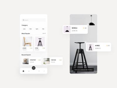 Online Shop shopping furniture rebound application design minimal app concept ui mobile mobile app ux designs ui designs uiux ui  ux