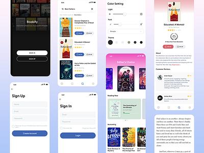 Bookify - Bookshelf Concept design quant uplabs ebook book store bookify bookshelf concept app
