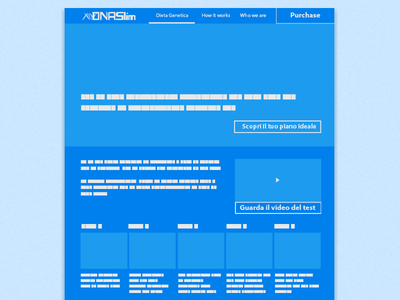 dietagenetica.it - Wireframe Home Page
