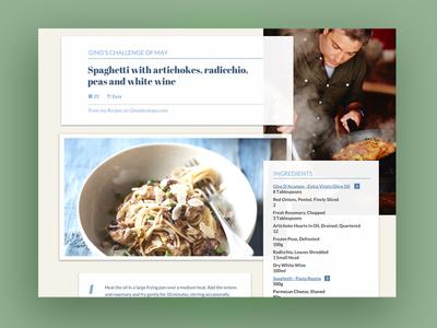 Bontà Italia - Recipe page