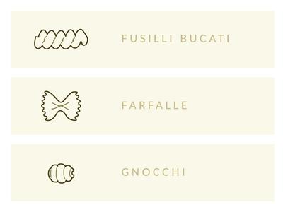 Pasta Shapes Illustration