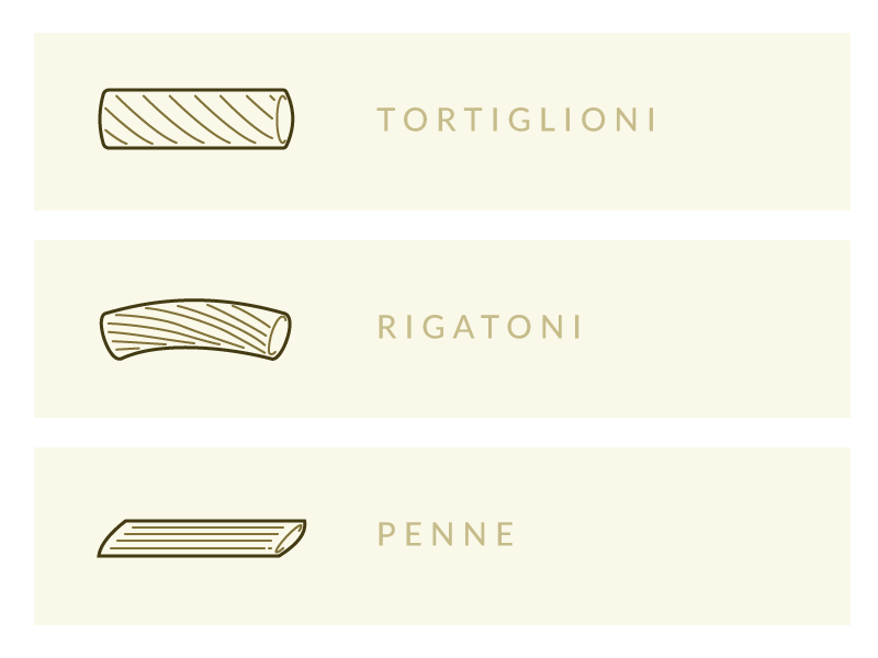 Pasta formats bonta italia