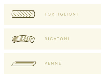 Pasta Shapes Illustration - 2