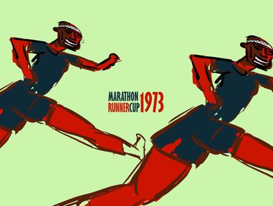 MARATHON RUNNERCUP 1973 illustration