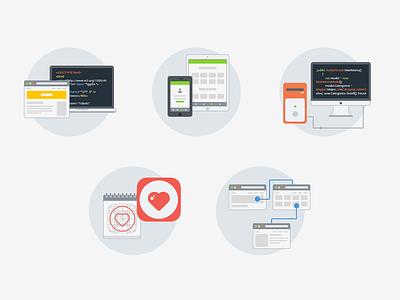 Website icons web flat icon responsive design ui ios7 services portfolio development prototype mobile