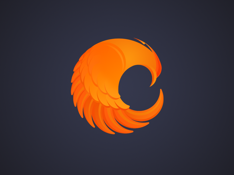 Phoenix phoenix logo logotype logomark branding design illustration vector bird circle