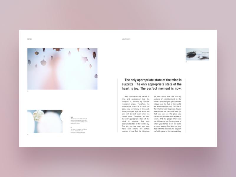 High spirits type modern magazine design magazine minimal grids typography editorial web page website layout design web ui layout graphic design design