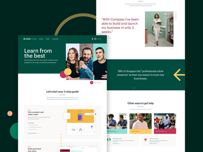 Learn from the best landing page landingpage learning visual design web design website site ui design web