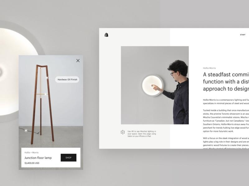 AR shopping mobile ui mobile shop website design web design website web concept art direction vr