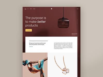 Make better products luxury aesthetic elegance elegant marketing shop photography fashion web page web design website minimal site web branding ui design