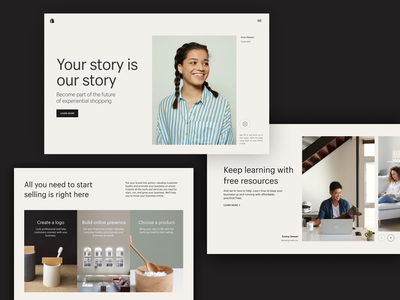 Your story is our story marketing strategy marketing site marketing pages landing web page webdesign website branding site ui web design