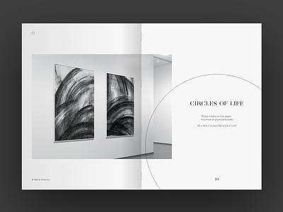Circles of Life print design book minimalism art direction visual design layout illustration drawing art editorial magazine design