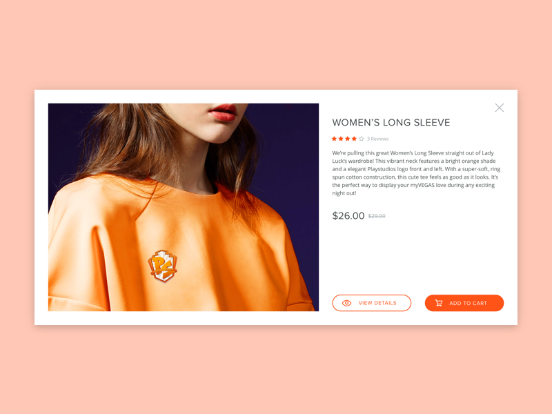 Store - Quick View card material development design product details shopping cart quick view commerce shop store