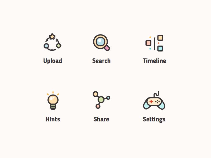 Kids icons flat sketch vector baby ui kids set design mobile app icon