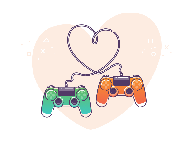 Play love love play sketch design graphic ui vector ps game illustration