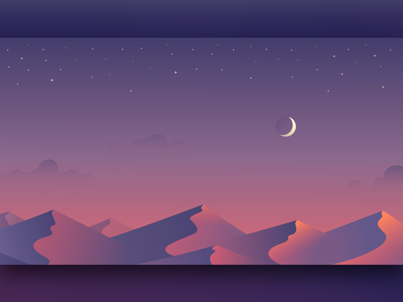 Desktop Wallpaper graphic sun moon freebie art desert landscape vector design illustration wallpaper free