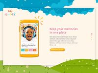 Kids app. Landing page