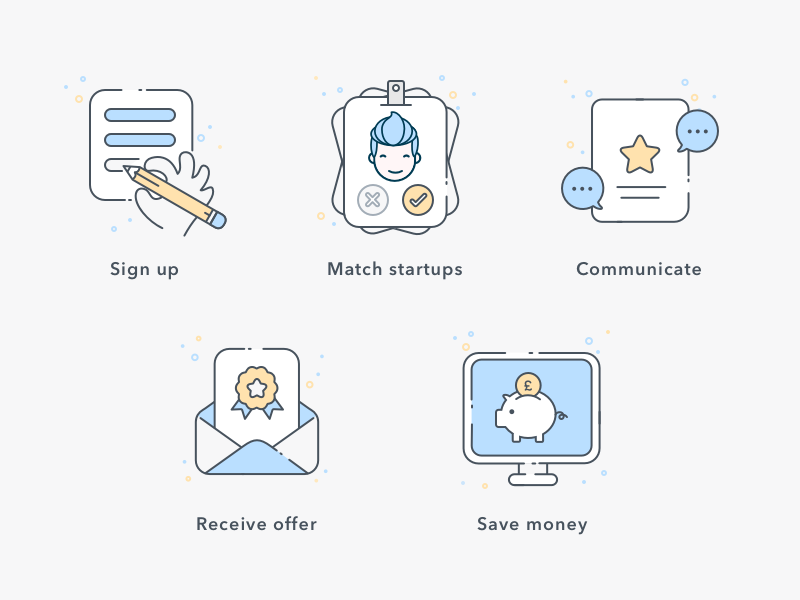Website Icons email chat user set icon design ui illustration graphic landing website web
