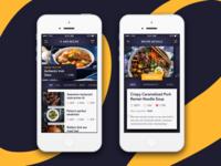 Recipe screens  iot ux material interface flat dark ui mobile design app cooking recipe