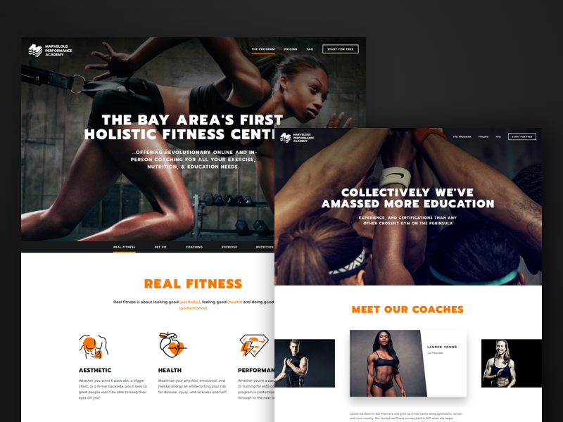 CrossFit website page photo landing ux gym fitness dark ui site web design sport